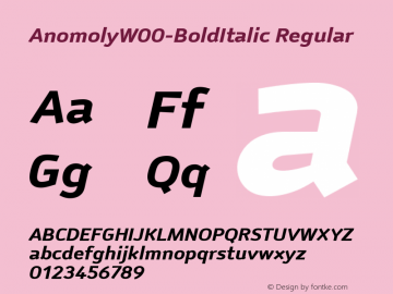 AnomolyW00-BoldItalic
