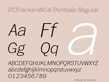 ITCFranklinW04-ThinItalic