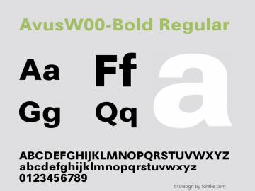 AvusW00-Bold