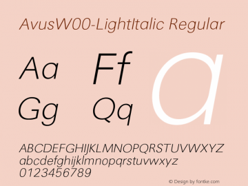 AvusW00-LightItalic