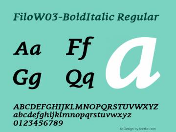 FiloW03-BoldItalic
