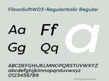 FilsonSoftW03-RegularItalic