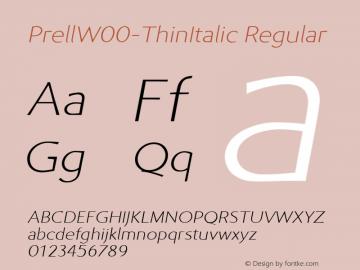 PrellW00-ThinItalic