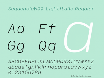 SequenciaW00-LightItalic