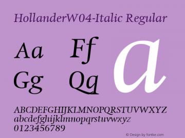 HollanderW04-Italic