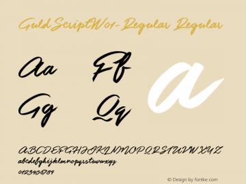 GuldScriptW01-Regular