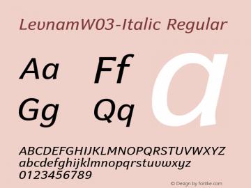 LevnamW03-Italic
