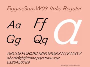 FigginsSansW03-Italic
