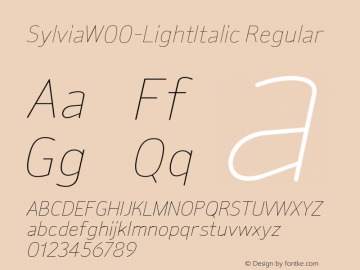 SylviaW00-LightItalic