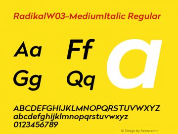 RadikalW03-MediumItalic