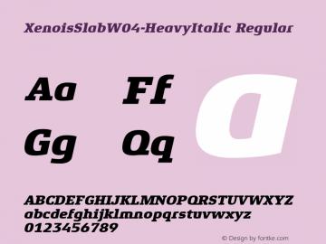 XenoisSlabW04-HeavyItalic