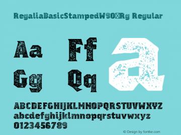 RegaliaBasicStampedW90-Rg