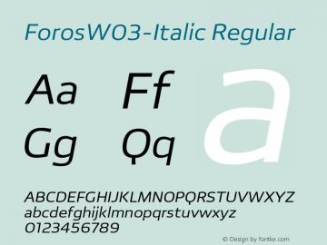ForosW03-Italic