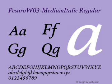 PesaroW03-MediumItalic