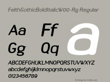 FelthGothicBoldItalicW00-Rg