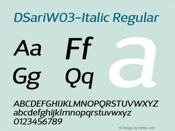 DSariW03-Italic