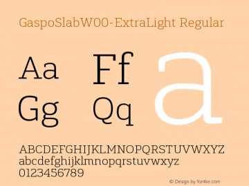 GaspoSlabW00-ExtraLight