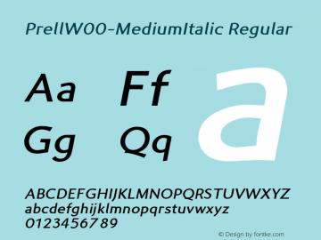 PrellW00-MediumItalic