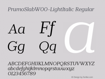 PrumoSlabW00-LightItalic