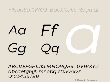 FilsonSoftW03-BookItalic