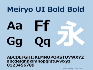 Meiryo UI Bold