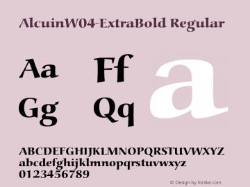 AlcuinW04-ExtraBold