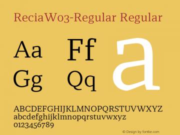 ReciaW03-Regular