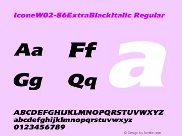 IconeW02-86ExtraBlackItalic