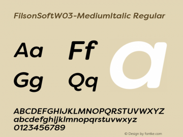 FilsonSoftW03-MediumItalic