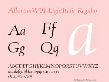 AlbertanW01-LightItalic