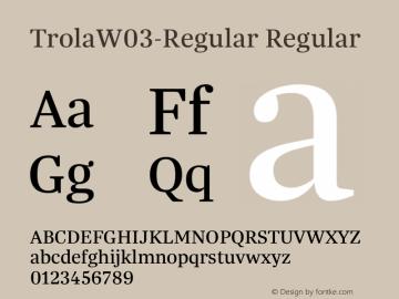 TrolaW03-Regular