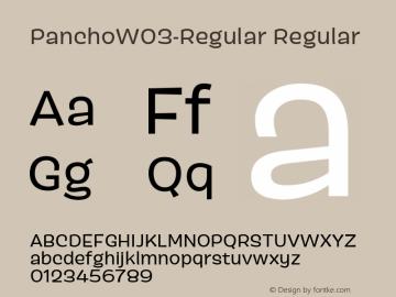 PanchoW03-Regular