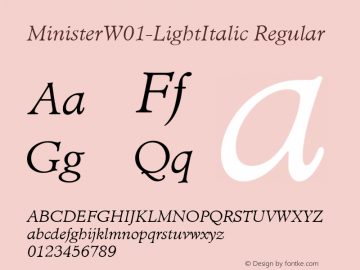 MinisterW01-LightItalic