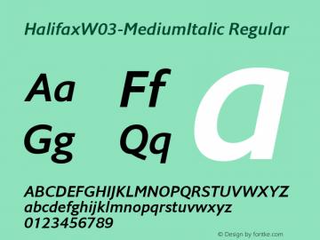 HalifaxW03-MediumItalic