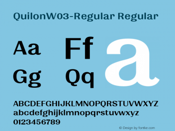 QuilonW03-Regular