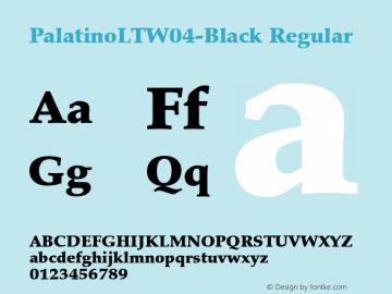 PalatinoLTW04-Black