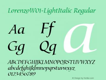 LorenzoW01-LightItalic