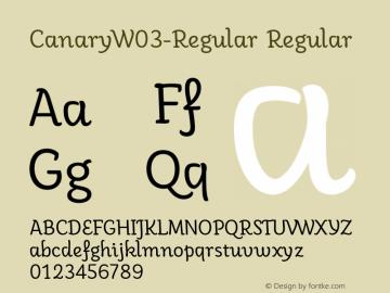 CanaryW03-Regular
