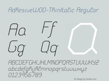 AdhesiveW00-ThinItalic