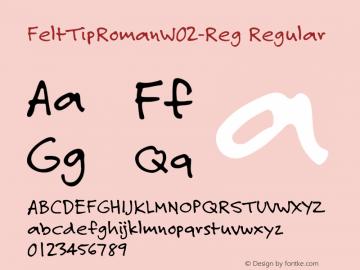 FeltTipRomanW02-Reg