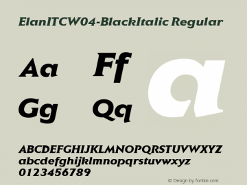ElanITCW04-BlackItalic