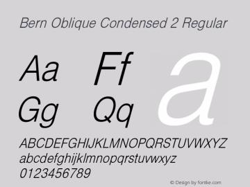 Bern Oblique Condensed 2