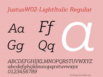 JustusW02-LightItalic
