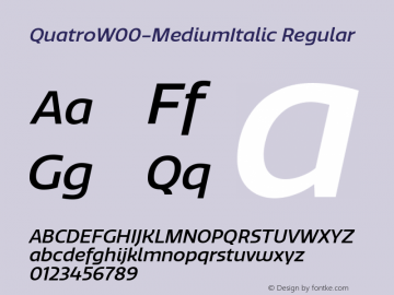 QuatroW00-MediumItalic