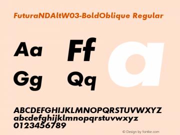 FuturaNDAltW03-BoldOblique