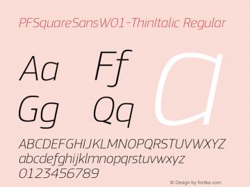 PFSquareSansW01-ThinItalic