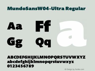 MundoSansW04-Ultra