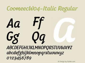 CoomeecW04-Italic