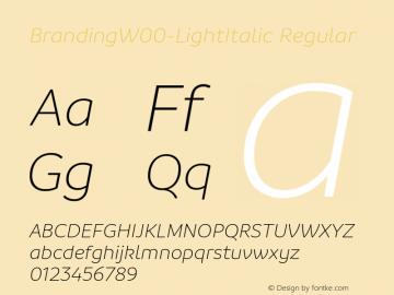 BrandingW00-LightItalic