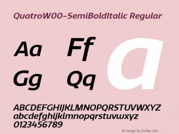 QuatroW00-SemiBoldItalic